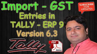 GST - Import of Goods and Services Entry in Tally ERP 9 | Tally Tutorial in Hindi by Manoj Sir