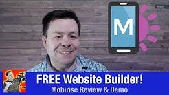 Free Website Builder - MobiRise Review & Demo