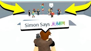 PLAYING ROBLOX SIMON SAYS! *IMPOSSIBLE*