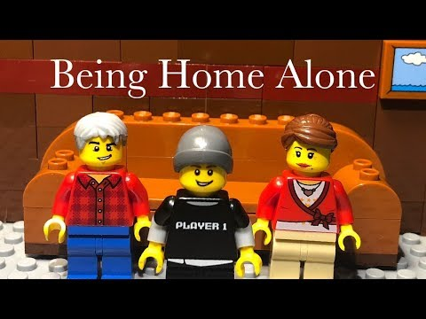 Being Home Alone | Lego Animation
