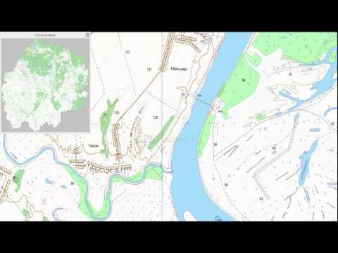 Топографическая карта Рязанской области для OziExplorer