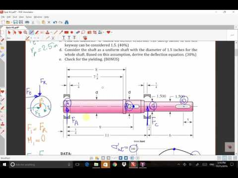 Quiz Review, Shaft, Shigley, Chapter 7 - YouTube