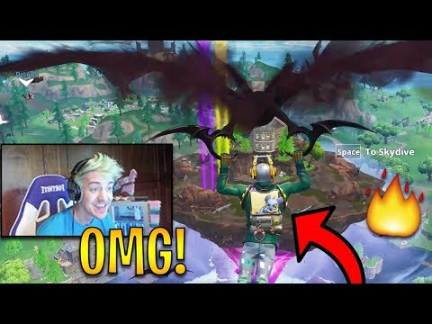 Ninja First Time Landing at The *NEW* Floating Loot Lake! | Fortnite Highlights & Funny Moments