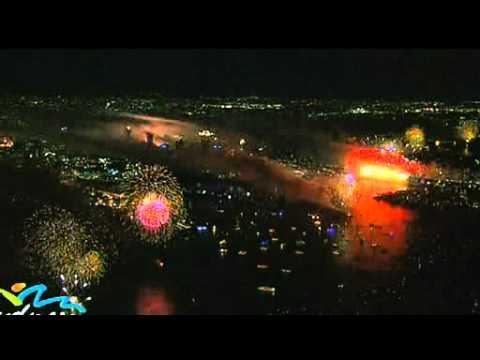 Video  Màn pháo hoa được hơn 1 tỷ người theo dõi   1 1 2010   Báo KH&ĐS