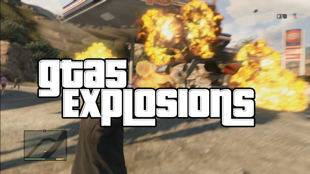 Gas Station Close By >> GTA 5 Gas Station Explosion in Original Quality HD - YouTube