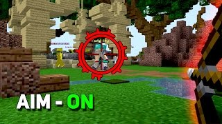 ВКЛЮЧИЛ АИМ И ПОГНАЛИ ВСЕХ ВЫНОСИТЬ! - (Minecraft Sky Wars)