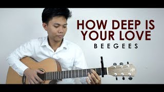 How Deep Is Your Love by Bee Gees Fingerstyle Guitar Cover by Mark Sagum | Free Tabs