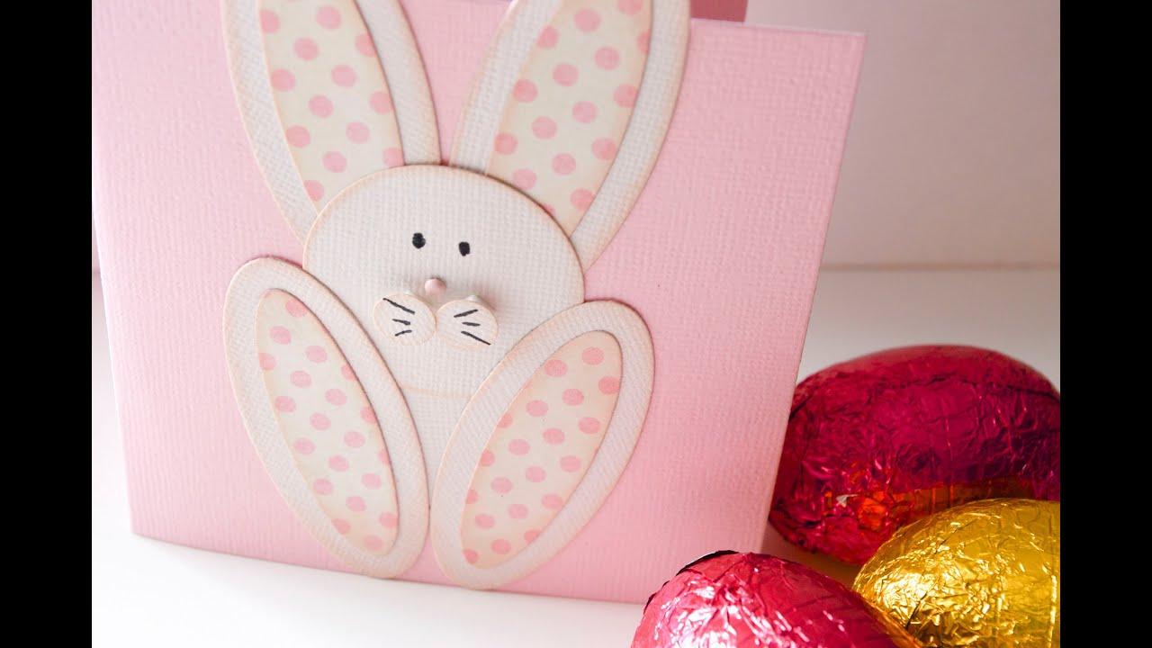 Cómo hacer la tarjeta conejo de pascua. Tutorial - YouTube