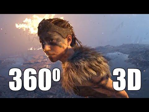Ролик в 360° 3D — Hellblade (4k)