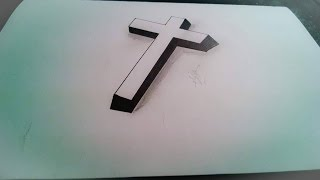 How to Draw a Cross in 3D