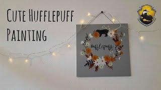 Making a Cute Hufflepuff Painting
