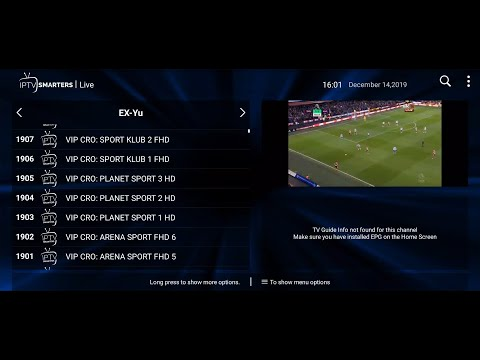 IPTV Smarters Pro: Android aplikacija za IPTV (test IPTV pretplate za 25 eura godišnje)