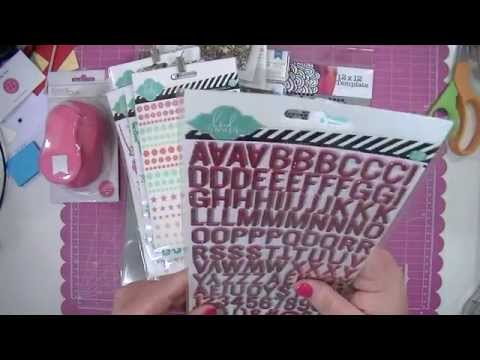 Scrapbooking Layout Shares and a Fun Haul!