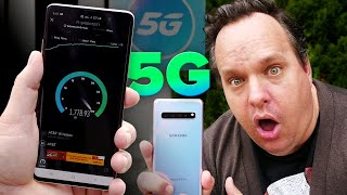 Testing the Insane Galaxy S10 5G speeds on AT&T 5G network