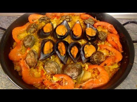 PAELLA DE MARISCO FACIL - Recetas de Cocina Faciles Rapidas y Economicas de hacer en casa