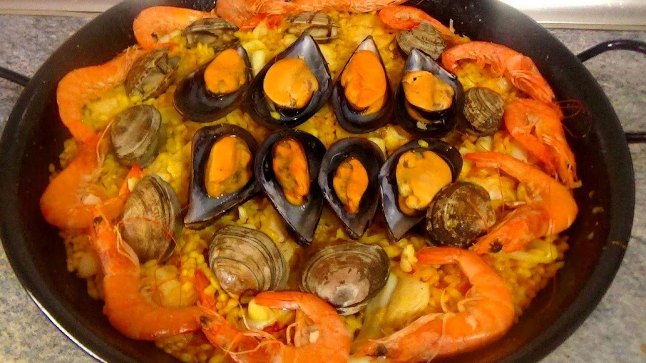 Paella de marisco facil recetas de cocina faciles for Comidas rapidas de preparar