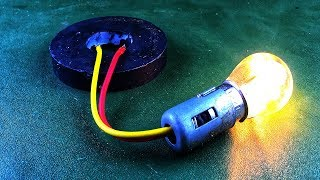 Magnetic Free Energy Generator With Copper Coil Using DC Motor , DIY Science Experiments 2019