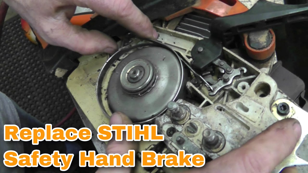 how to replace a stihl chainsaw safety hand brake with taryl youtube Stihl TS700 Parts Diagram youtube premium