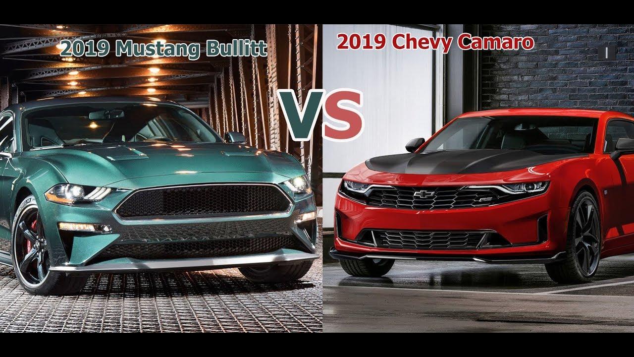 2019 Chevrolet Camaro vs 2019 Ford Mustang Bullitt ...
