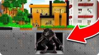 Aparece Un Hombre Lobo Mutante Gigante Debajo De Mi Casa En Minecraft 😱