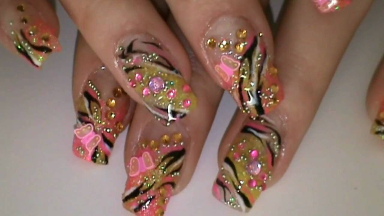 ABSTRACT video nail art tutorial - YouTube