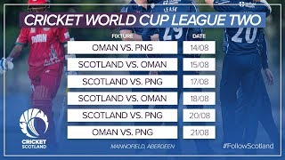 LIVE: Scotland v Oman - Cricket World Cup League Two - Thursday 15th August