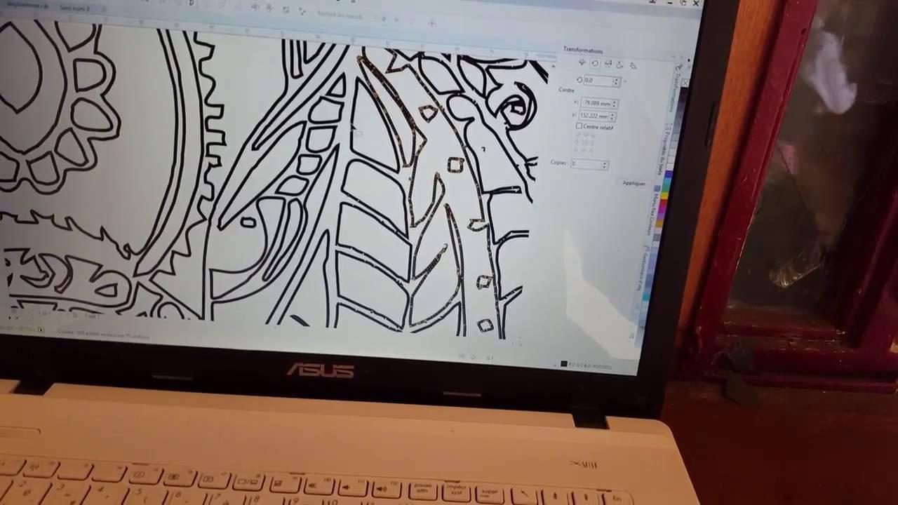 Préférence travail sur dessins pour découpe laser - YouTube DF75