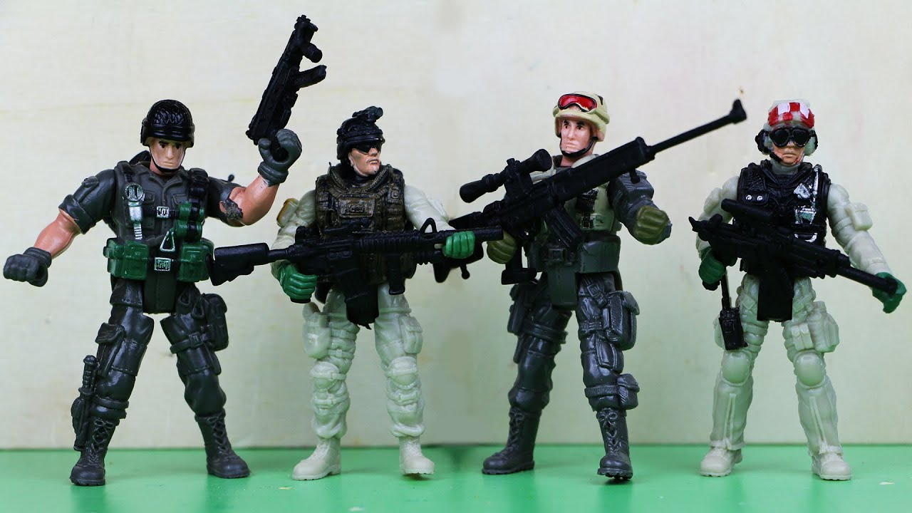 Toy Army video gunriffle shooting challenge Toy army exercise