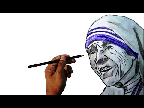 ★-how-to-draw-mother-teresa-|-pencil-drawing