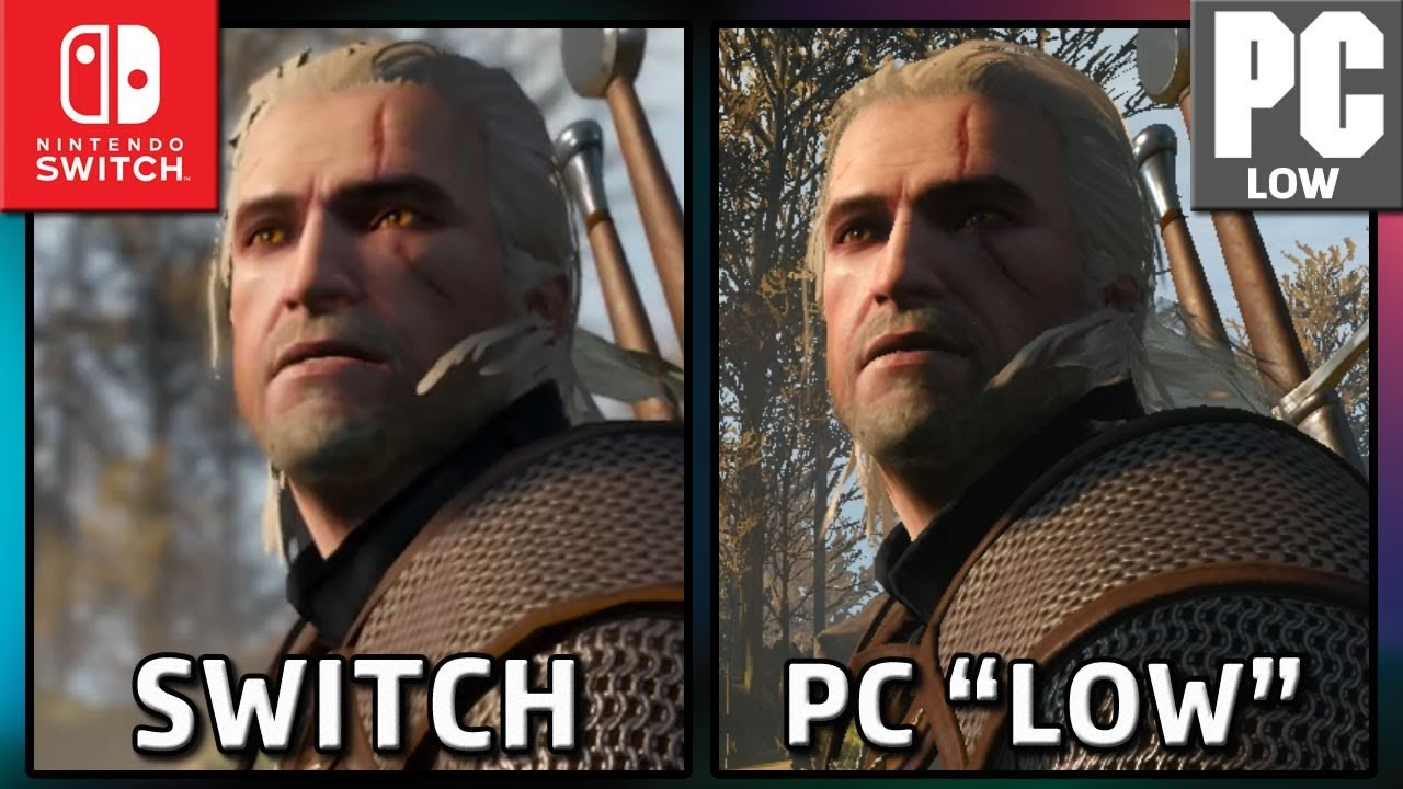 The Witcher 3 | Switch VS PC LOW | Graphics Comparison & Frame Rate Trailer
