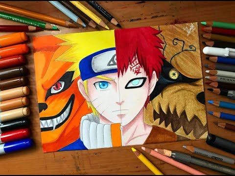 Speed Drawing - Naruto VS Gaara (Naruto Shippuden) [HD]