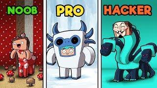 Minecraft - TWILIGHT FOREST HIDE AND SEEK! (NOOB vs PRO vs HACKER)