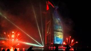42nd UAE National Day Fireworks Burj Al Arab 2013