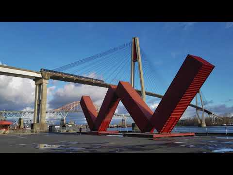 Vancouver PUBLIC ART: WOW WESTMINSTER by Jose Resende at Westminster Pier Park (Excerpt*)