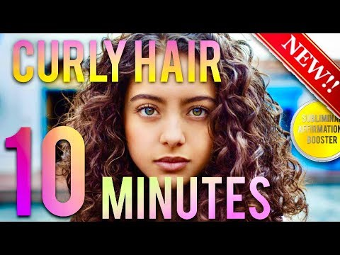 🎧GROW CURLY HAIR IN 10 MINUTES! SUBLIMINAL AFFIRMATIONS BOOSTER -REAL RESULTS DAILY!