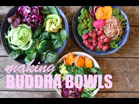 3 BUDDHA BOWLS 🥙🙏🏻💜🌈 TUTORIAL  // VEGAN   HCLF   EASY