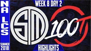 Video TSM vs 100 Highlights | NA LCS summer 2018 Week 8 Day 2 | Team Solomid vs 100 Thieves download MP3, 3GP, MP4, WEBM, AVI, FLV Agustus 2018