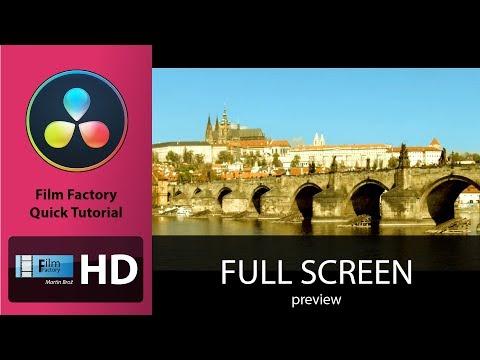 "Film Factory quick tutorial: ""Davinci Resolve full screen preview shortcut"""