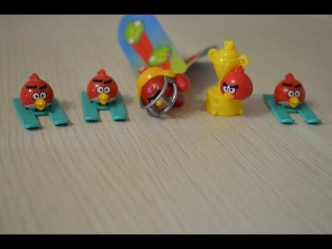 Киндер сюрприз Энгри Бердс распаковка  Kinder Surprise Angry Birds unboxing