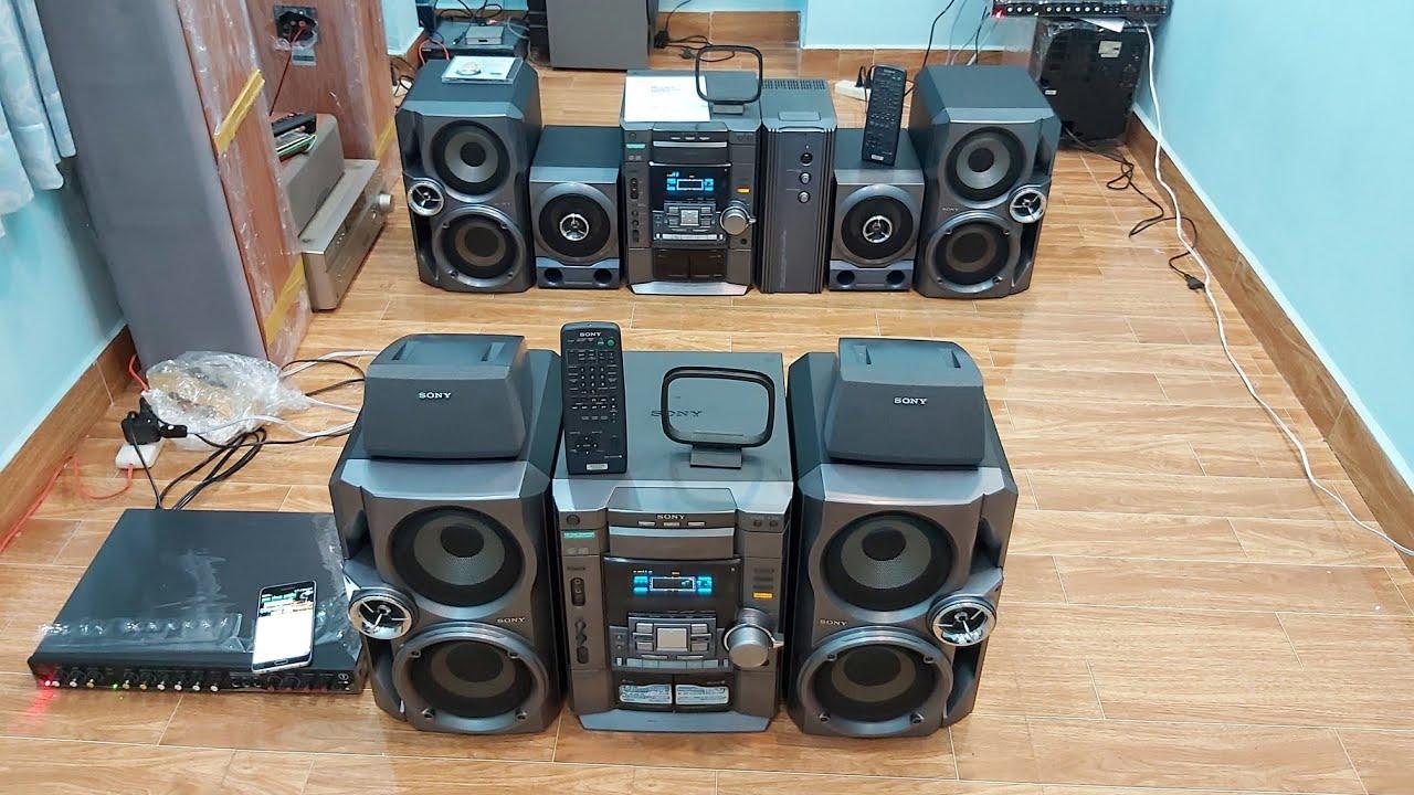 Cặp bầy trùng Sony VX888 Sony VX555 Bass đôi oánh tức ngực lun Karaoke vô tư 0938484360 - 0939924007