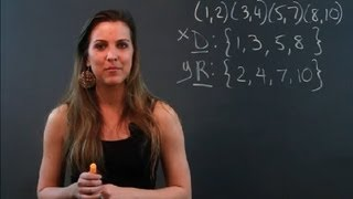 What Is the Difference Between the Domain & the Range of a Relation? : Math Tips