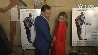Tom Hiddleston and Elizabeth Olsen at the Premiere of 'I Saw The Light' on March 22, 2016 in LA.