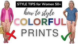 How to Look Chic in Colorful Prints this Summer || Fashion Over 50
