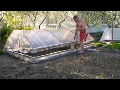 видео: Установка самодельной мини-теплицы