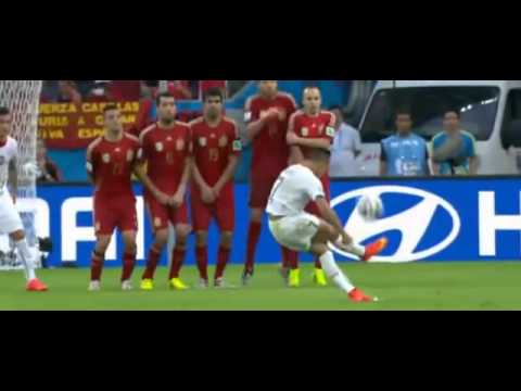 Charles Aránguiz Goal Spain vs Chile 0 2 World Cup 2014