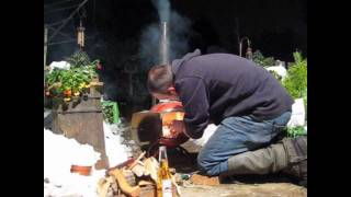 Homemade Log Burning Stove (pot Belly Stove)