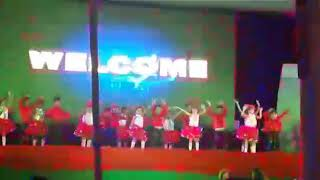 Jindal vidya mandir school std Ukg performance  with shalala song