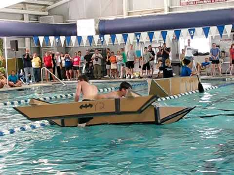 Cardboard Boat Race FAIL - YouTube