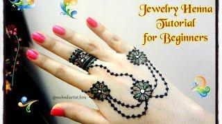 easy diy beautiful jewellery style mehndi henna design tutorial for beginners non dominant hand