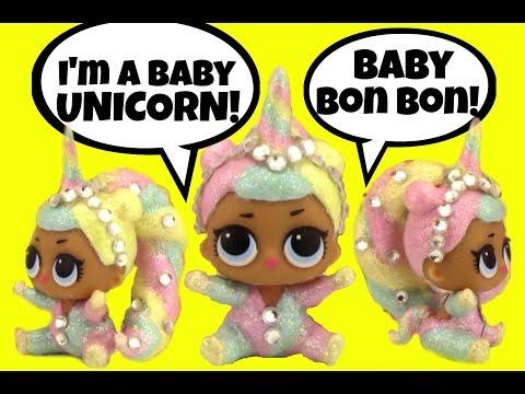 LOL Lil Sister BON BON UNICORN CUSTOM  Doll Story L.O.L. Surprise Video Girly Girlz